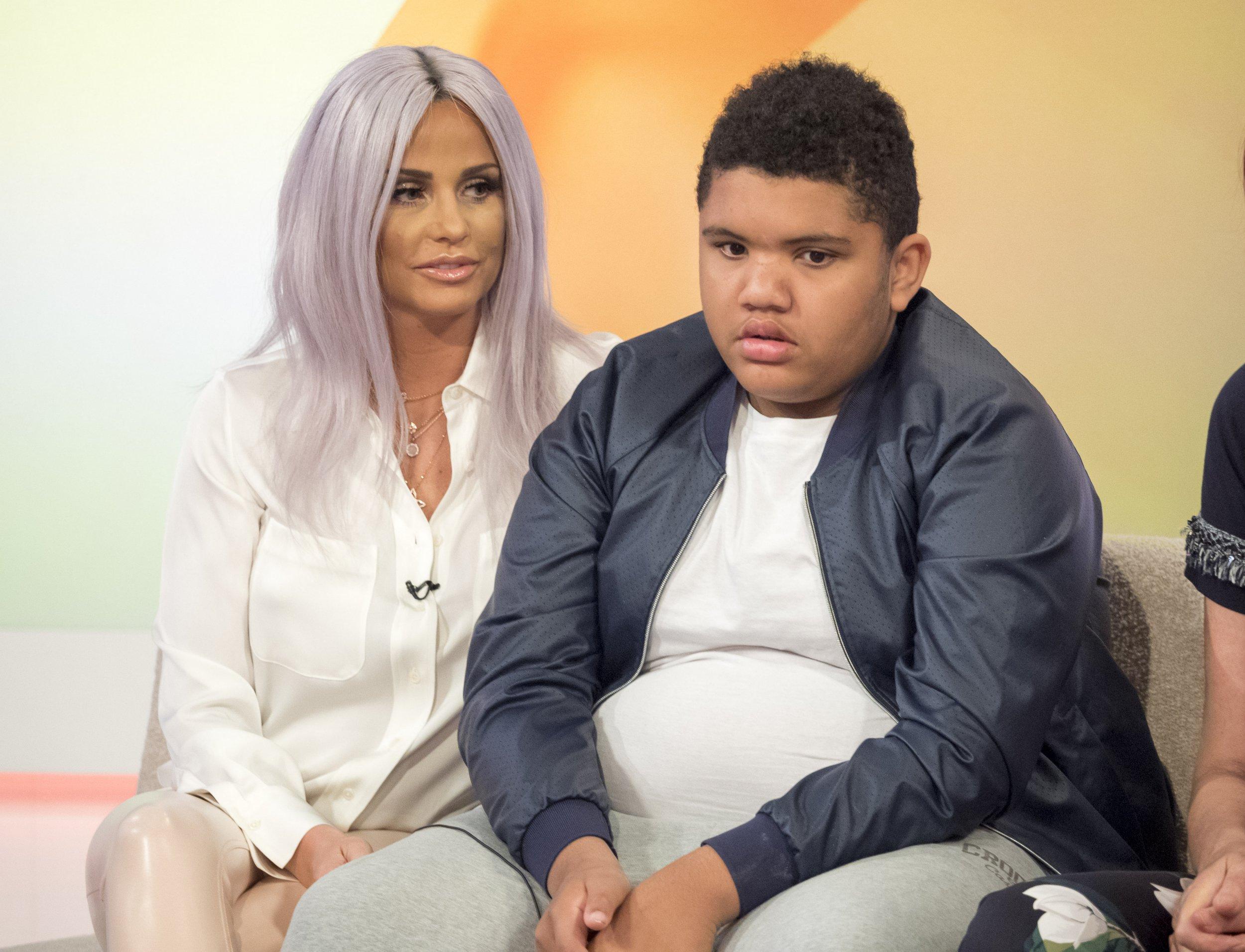 Katie Price with son Harvey