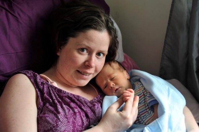 Gemma Holmes with baby Rueben.