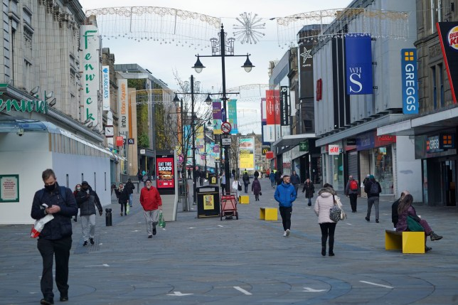 Northumberland Street in Newcastle city centre at the start of a four week national lockdown for England.