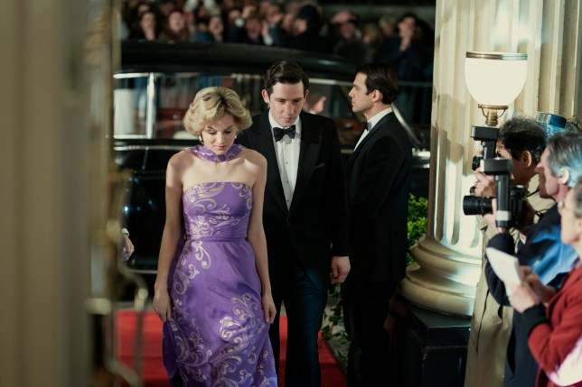 The Crown - Picture shows: Priness Diana (EMMA CORRIN) and Prince Charles (JOSH O CONNOR)