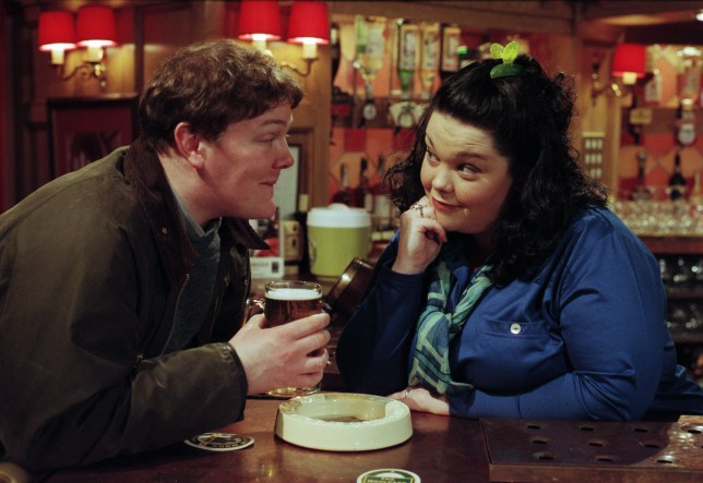 Paddy Kirk and Mandy Dingle in Emmerdale