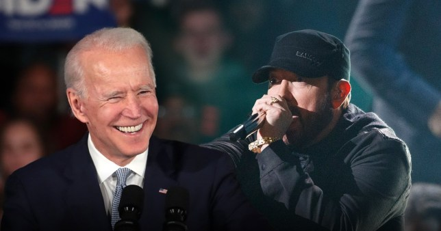 Picture: Getty Eminem thinks he's the reason Biden won Michigan
