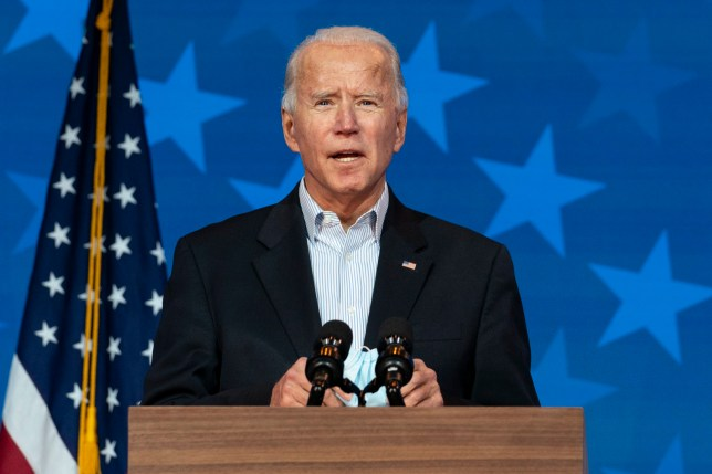 Democratic presidential candidate former Vice President Joe Biden speaks at the The Queen theater, Thursday, Nov. 5, 2020, in Wilmington, Del. (AP Photo/Carolyn Kaster)