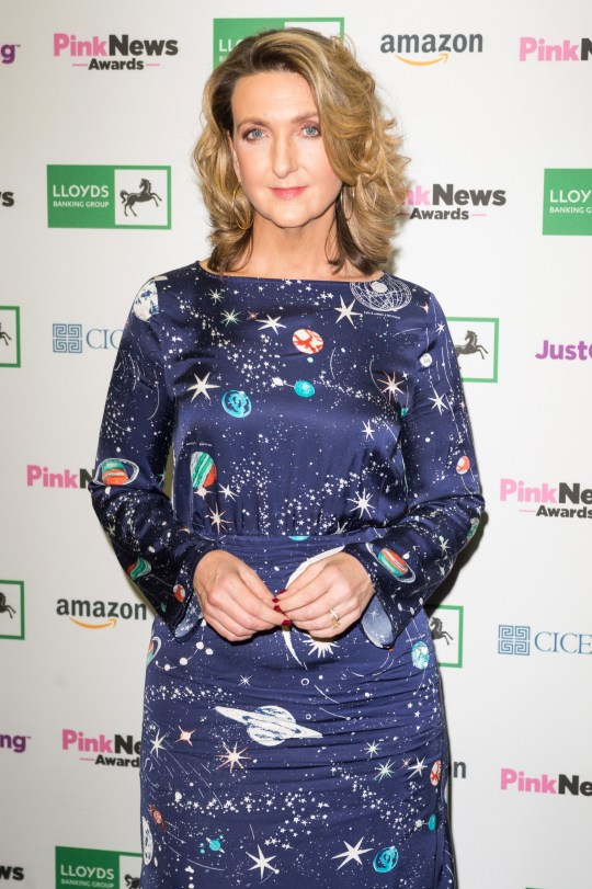 Victoria Derbyshire on a red carpet