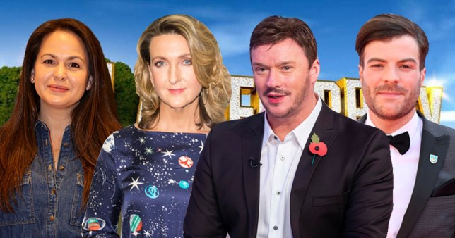 Giovanna Fletcher, Victoria Derbyshire, Russell Watson and Jordan North, all rumoured to be taking part in I'm A Celebrity 2020
