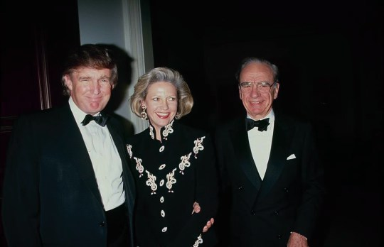 Donald Trump, Anna Murdoch Mann, and Rupert Murdoch. (Photo by The LIFE Picture Collection via Getty Images)