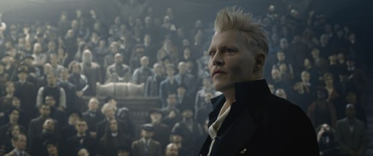 Johnny Depp as Grindelwald in Fantastic Beasts: The Crimes of Grindelwald