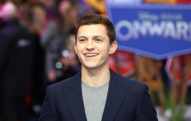 Tom Holland attends the Onward UK Premiere at The Curzon Mayfair