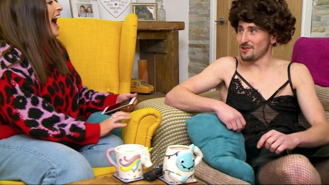 UNCLEARED GRABS FOR GOGGLEBOX PETE DRESSING AS WOMA