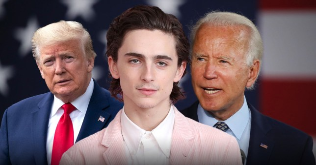 Picture: Getty Timothee Chalamet has best response to election drama