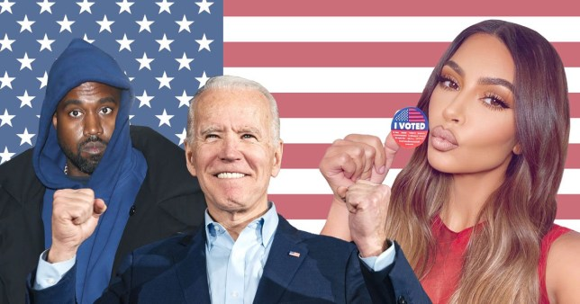 Kim Kardashian celebrates Joe Biden's win