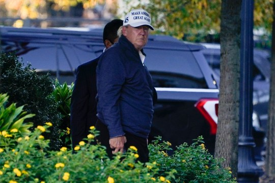 President Donald Trump arrives at the White House after golfing Saturday, Nov. 7, 2020, in Washington. (AP Photo/Evan Vucci)