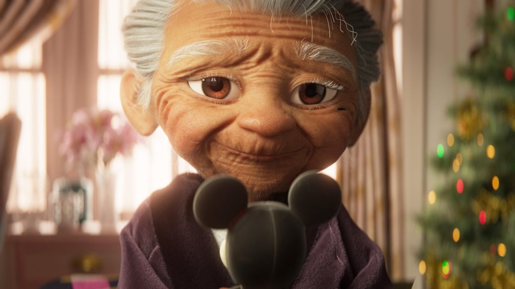Lola in the 2020 Disney Christmas advert