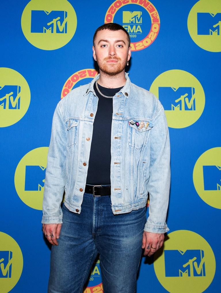 Sam Smith on MTV EMAs 2020 red carpet