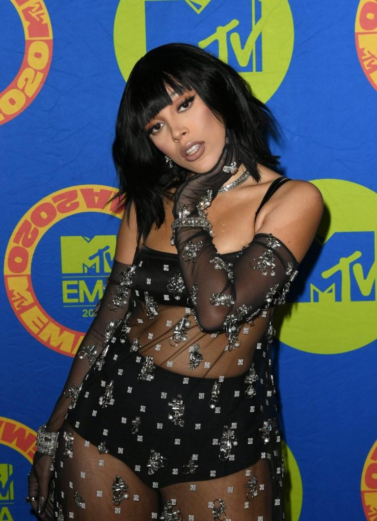 Doja Cat on MTV EMAs 2020 red carpet