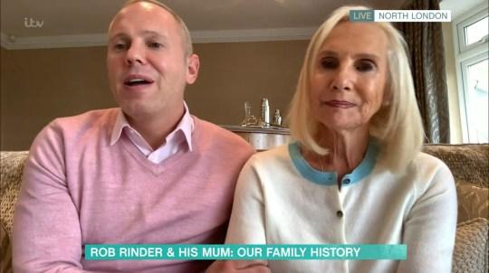 Robert Rinder and his mum Angela