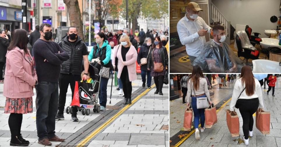 People flock shops and hair dressers as Wales Firebreak lockdown ends