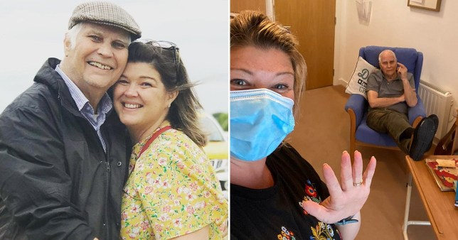 Picture: SWNS daughter got a job in care home so she could continue to see her dad during the pandemic