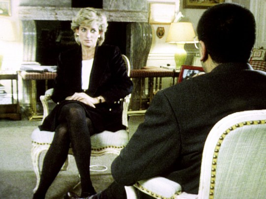 Diana during her interview with Martin Bashir for the BBC.