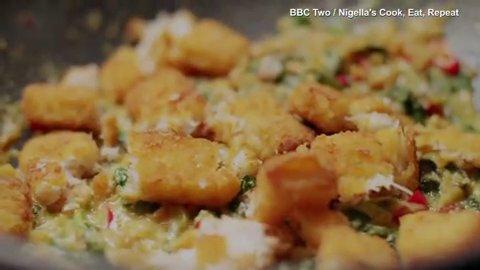 Nigella Lawson cooks a fish finger bhorta recipe