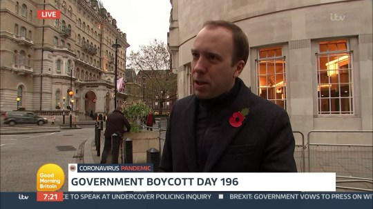 Matt Hancock ambushed by GMB after 198 days of avoiding appearing on the show