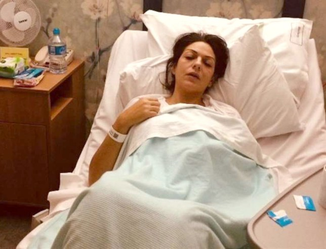 The jury has been shown this picture of Nicole Elkabbass in hospital, which the prosecution say was taken following a routine operation to remove her gall bladder. Broadstairs mum Nicole Elkabbass faked cancer to splurge ?45,000 GoFundMe donations on Tottenham Hostpur tickets and lavish lifestyle, jury told