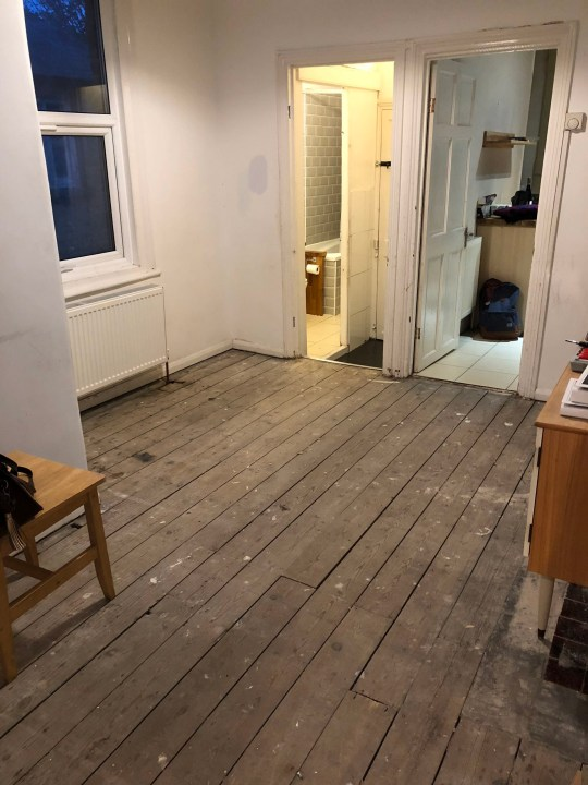 Before picture of the hallway