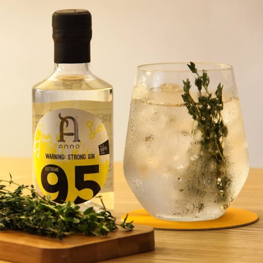 World's strongest gin released - with 95% abv Picture: Anno gin