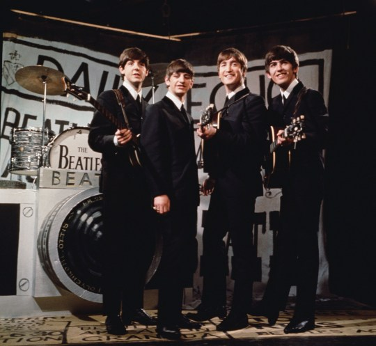 The Beatles, from left to right Paul McCartney, Ringo Starr, John Lennon, and George Harrison.