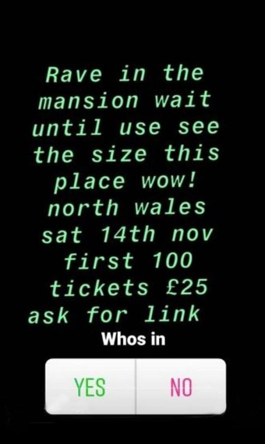 Police hunt location of 'thriller rave' at nation mansion