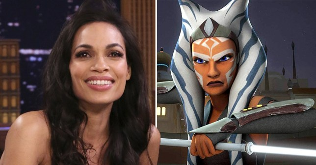 Rosario Dawson, animated Ahsoka Tano in Star Wars