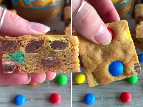 Baker shares simple but delicious M&M and peanut butter cookie bar recipe