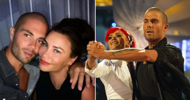 Max George and girlfriend Stacey Giggs and with Strictly Come Dancing partner Dianne Buswell