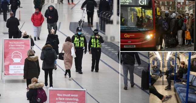 Bus passenger in London fined ?1,700 for refusing to wear face covering Pics: PA/AFP/rex