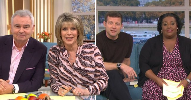 This Morning's Eamonn Holmes and Ruth Langsford, and Dermot O' Leary and Alison Hammond
