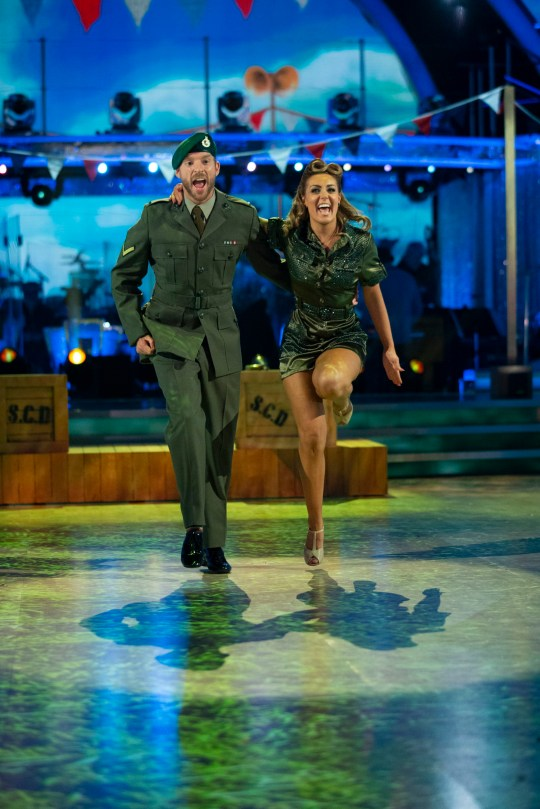 Amy Dowden and JJ Chalmers during Strictly Come Dancing