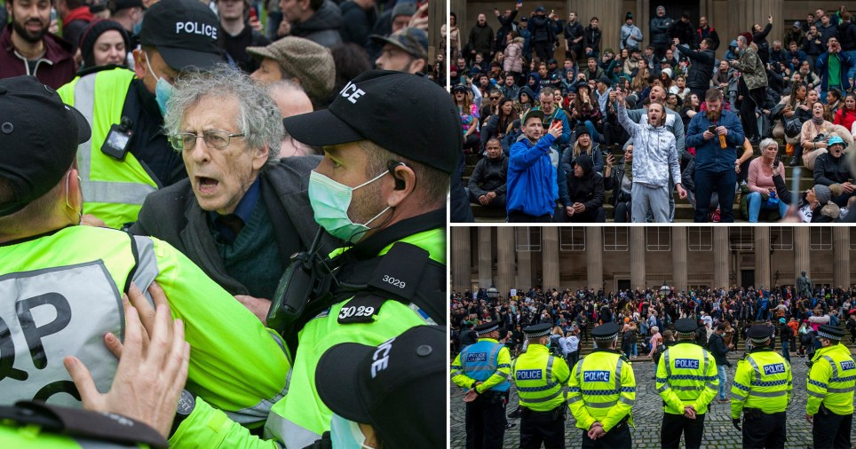 This weekend saw anti-lockdown protests all over England.