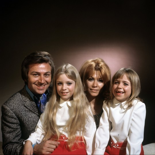 Des O'Connor and his wife Gillian Vaughan with their daughters, Tracey and Samantha ITV ARCHIVE