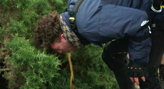 STRICT EMBARGO - NO PUBLICATION BEFORE 22:35 GMT Sunday 15th November 2020. Editorial use only Mandatory Credit: Photo by ITV/REX (11017151ap) Jordan North being sick 'I'm a Celebrity... Get Me Out of Here!' TV Show, Series 20, Gwrych Castle, Wales, UK - 15 Nov 2020