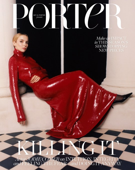 JODIE COMER TALKS TO PORTER ABOUT HER DAUNTING TRANSITION FROM TV TO HOLLYWOOD, FAMILY LIFE IN LIVERPOOL, KEEPING HER PRIVATE LIFE OUT OF THE SPOTLIGHT AND WHY SHE IS MORE DETERMINED THAN EVER TO STAY TRUE TO HERSELF *Please link directly to PORTER via www.net-a-porter.com/en-gb/porter/article-b36eb9917af36890 To read PORTER on iPhone, iPad and Android, visit net-a-porter.com/porter or download the NET-A-PORTER app from the App Store and Google Play Interview highlights: Jodie Comer on the pressure of choosing which roles to take on after the triumph of Killing Eve: ?What I try to do is just to stay true to myself. Is there something that I haven?t explored yet? Because the thing about doing Killing Eve, or something like that, is that everyone has an opinion. Of course, I was so lucky that Villanelle was just one in a million. That role is just so fabulous that I think people are like, ?Well, where?s she gonna go from here?? For me, the only person I have to answer to is myself ? so as long as I go into things with integrity and knowing why I did it, I think you just have to drown out the noise.? Jodie Comer on learning to trust her intuition: ?People tell me a lot that I have good instincts. So they?re always like, ?Stay with that, stick to your gut.?? Jodie Comer on trusting her instincts when it comes to her career: ?If I don?t have an initial instinct about what I?d do with a character ? if I don?t sympathize with them or I can?t find a way of excusing them if they?re really awful ? then I don?t go near it.? Jodie Comer on the recent upsetting intrusion into her private life and her boyfriend?s identity being revealed in the media: ?All this false information came out about him, and people just ridiculed him and me and my family. People took these tweets as truth. That was the biggest time my life has been kind of blown up and publicized in that way. A lot of people read things and they go, ?Wow, she?s that, she?s this type of person?. And I?m like, OK, I can s