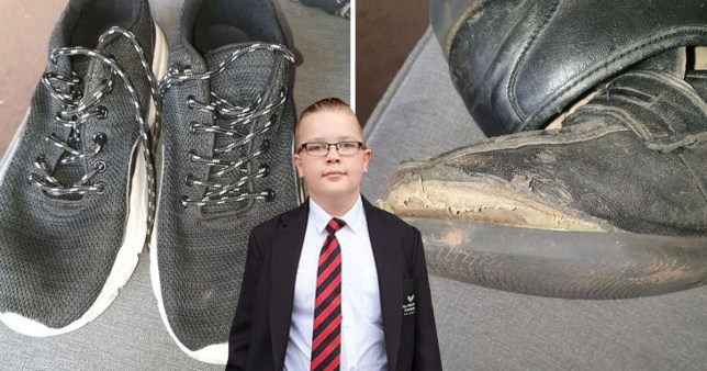 Mum furious after son placed in isolation after wearing trainers when school shoe split MEN Media