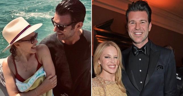 Kylie Minogue and boyfriend Paul Solomons
