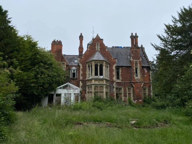 The abandoned mansion has been left empty for decades.