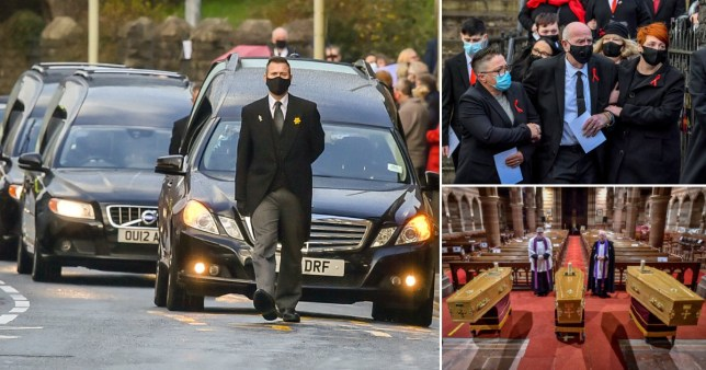 Funeral for three members of same family Pics: PA