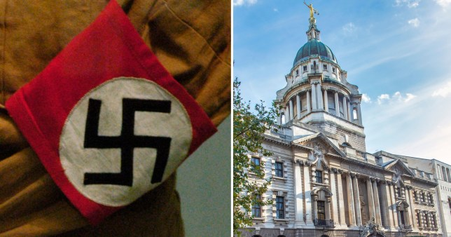 Man accused of spreading anti-Semitic Covid hoax appears in court wearing Nazi armband