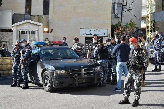 69 inmates escaped from a Lebanese prison and five of them died in a car crash while driving away from police chasing them.