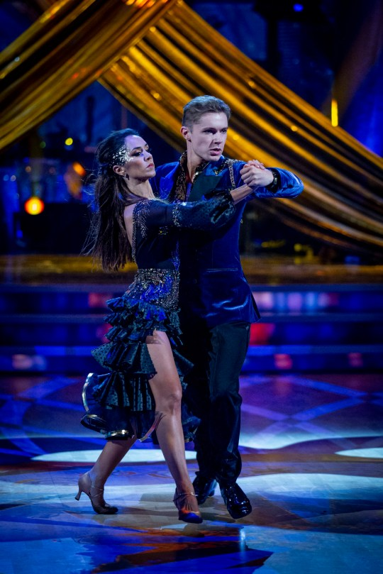 HRVY and Janette Manrara during the dress show for Saturday's programme