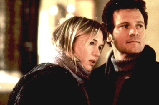 Renee Zellweger and Colin Firth (Mark Darcy) in Bridget Jones's Diary