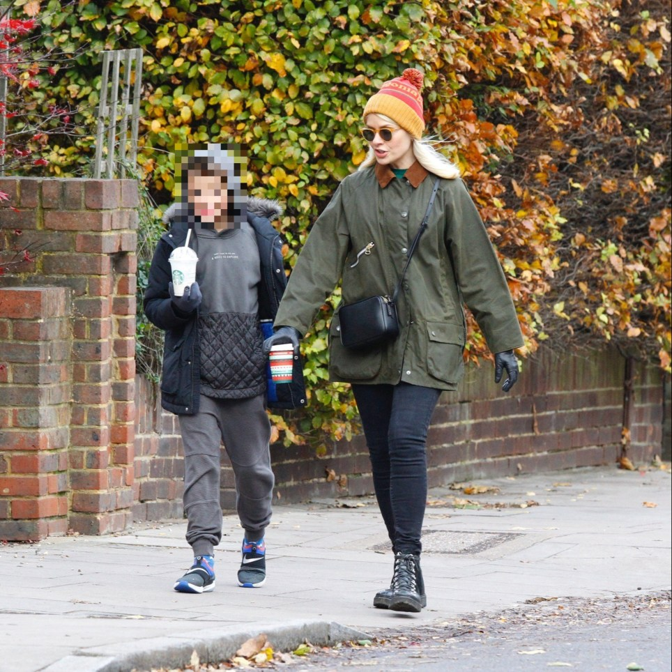Holly Willoughby seen out in London walking with son Harry