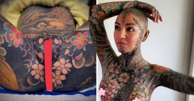 Woman has her genitals tattooed